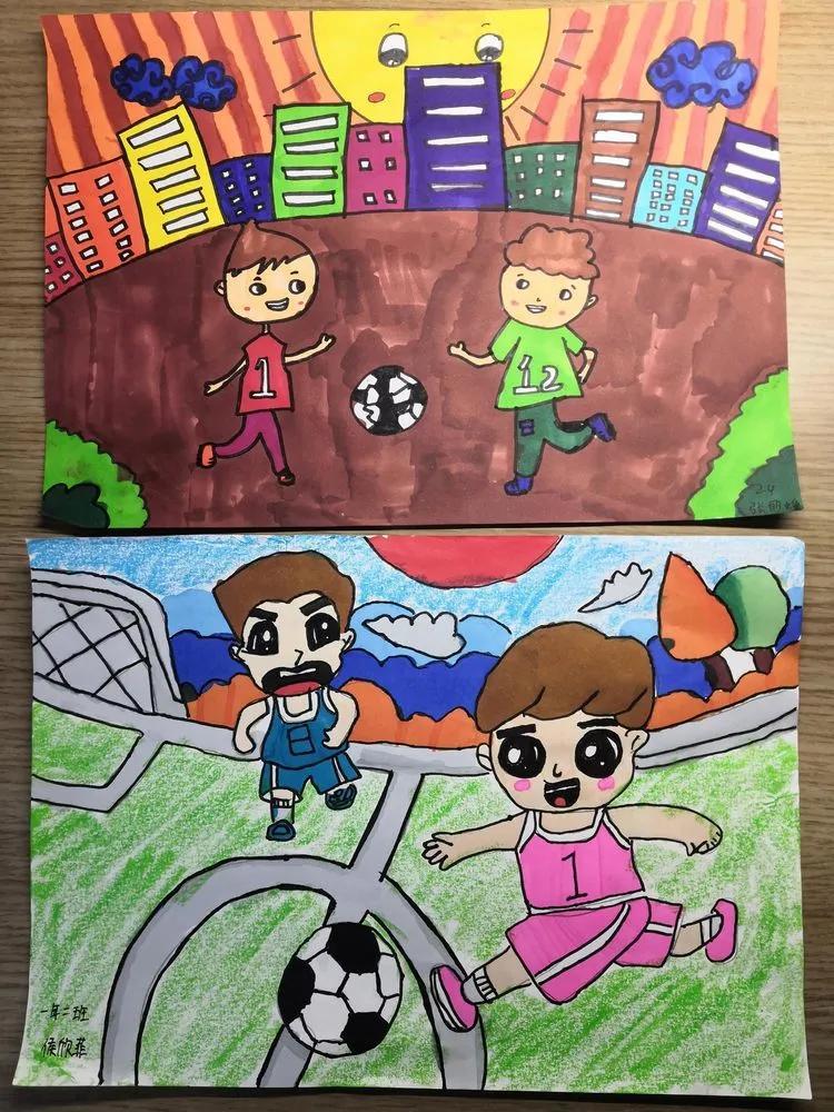 比赛用足球_儿童足球画_足球比赛儿童画