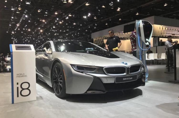 2018北美车展:宝马新款i8 coupe亮相