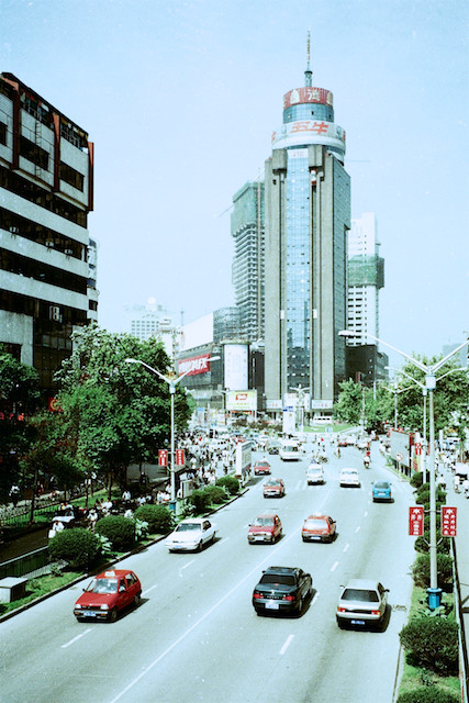 成都的街头景象