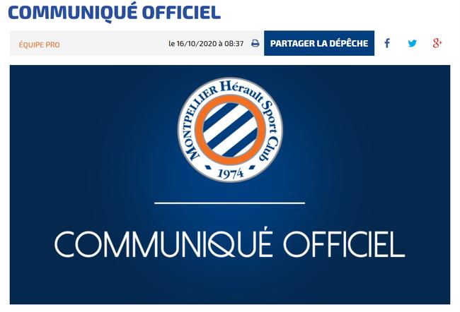 法甲球队蒙彼利埃12人新冠检测呈阳性,其中包含8名球员