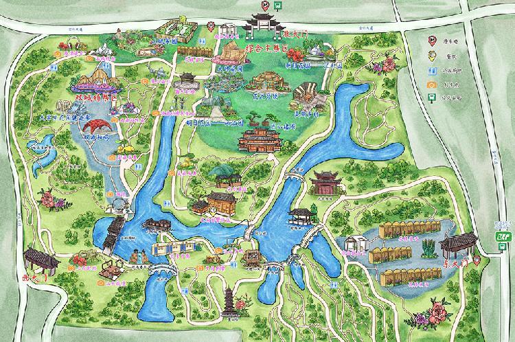 【新闻通稿1018】观展攻略 配图:第三届城市花博会 手绘地图.jpg