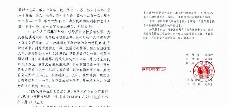 遼寧企業家因涉黑強迫交易等罪一審獲刑21年