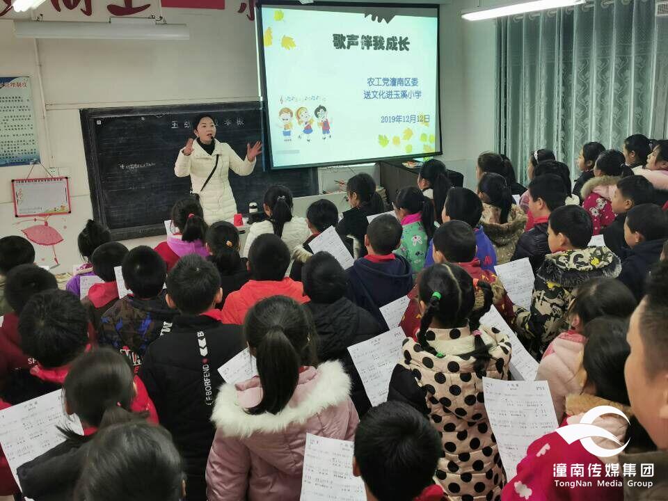 农工党潼南区委:开展文化进校园活动