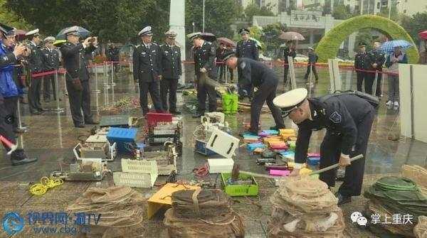 万州:集中销毁150件禁用渔具 严厉打击非法捕捞