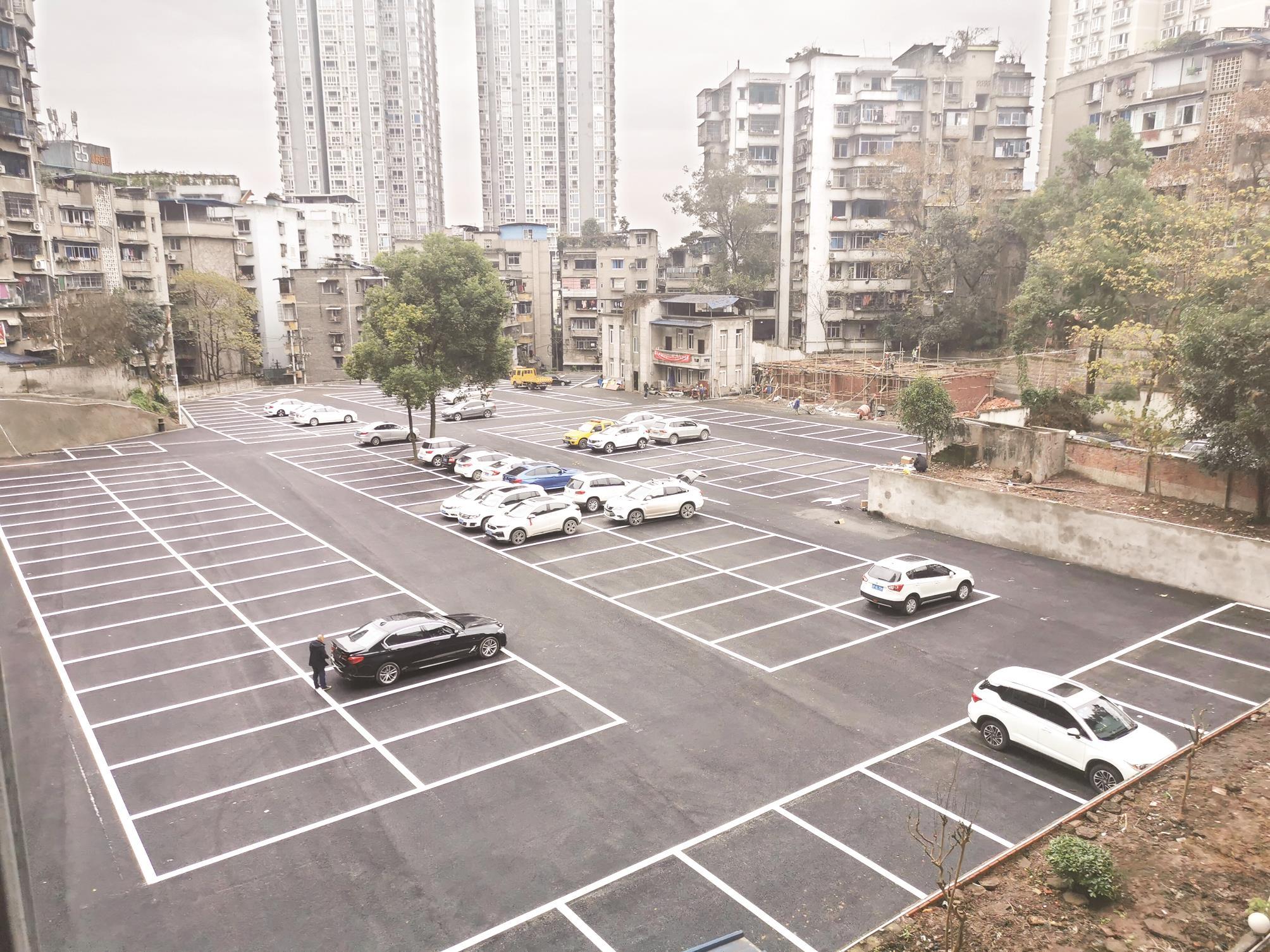 万州王家坡停车场190个车位已建成