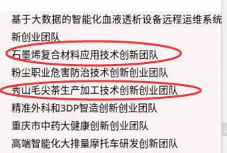 喜讯!秀山3个团队入选第一批重庆英才计划