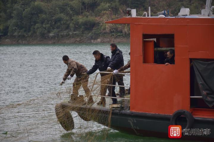 酉阳多部门联合开展酉水河航道清障执法行动