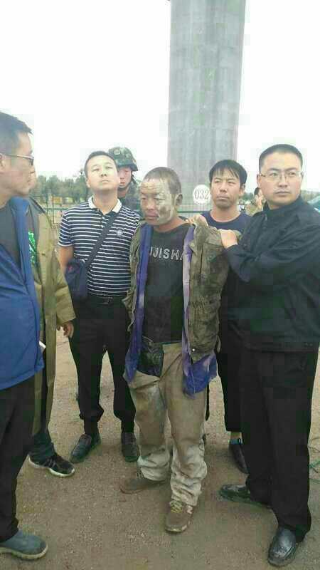 甘肃玉门杀死四名家人嫌犯被抓 抓捕现场曝光