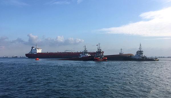新加坡海域挖沙船倾覆事件确认1名中国籍船员遇难