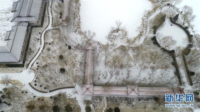 银川市海宝公园雪景(1月3日摄)。1月3日,宁夏银川迎来降雪天气。.jpeg