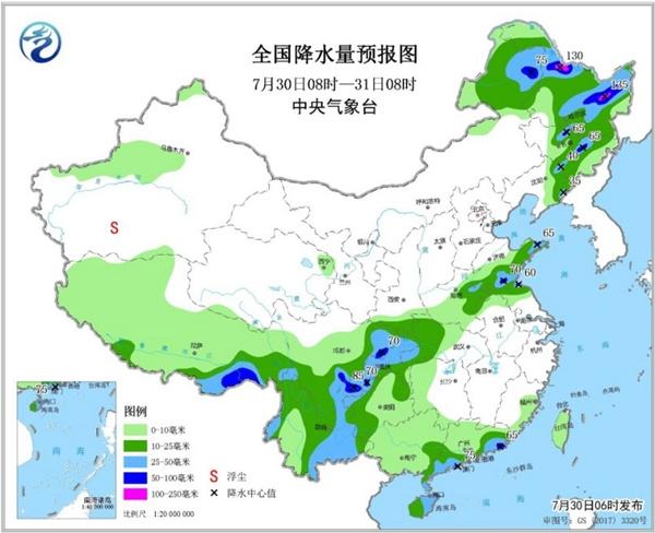 南方高温超长待机 东北西南地区多降雨