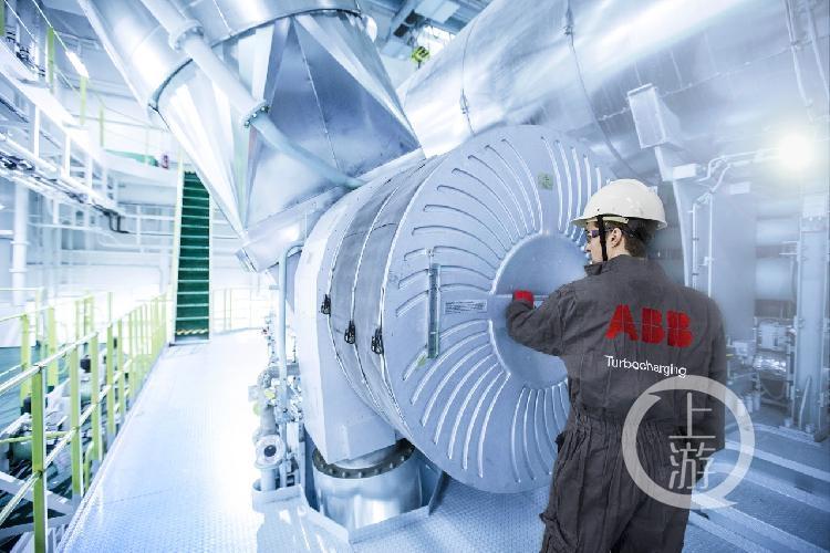 """世界最大级别集装箱船 搭载""""重庆造""""涡轮增压器"""