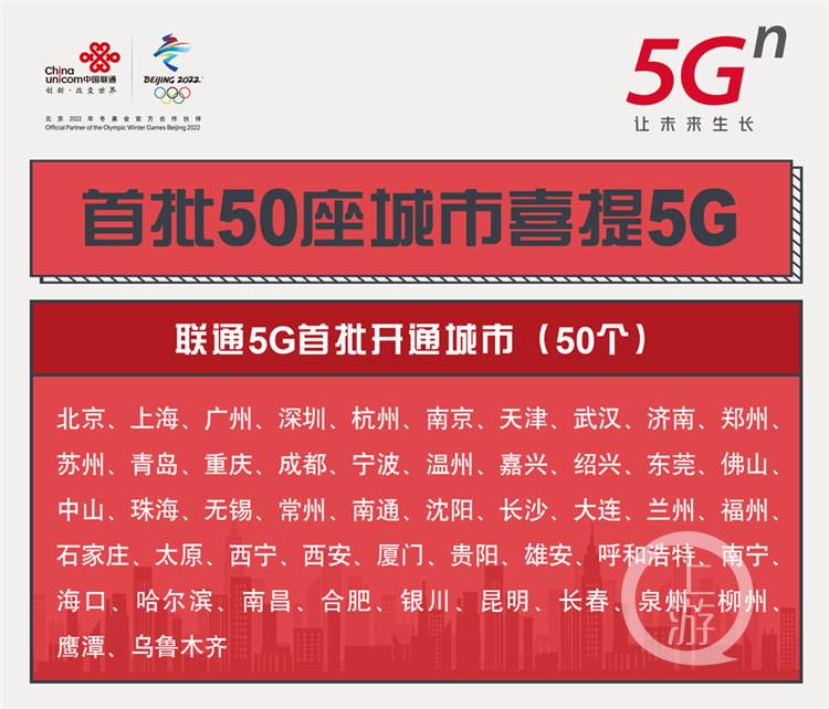 联通推出七个档位5G套餐 十余款5G手机购机有优惠