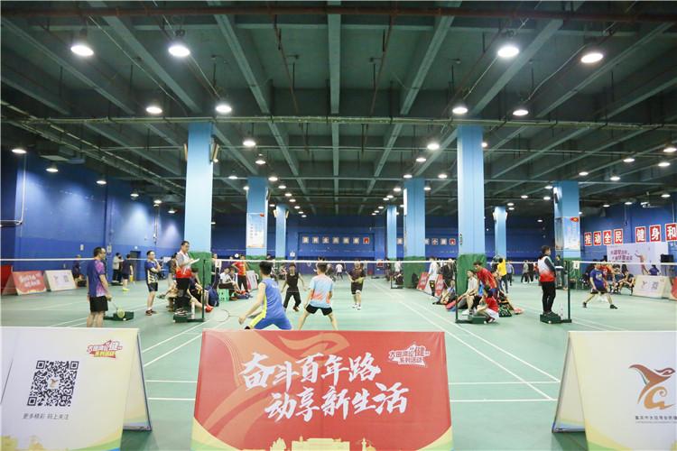 大田湾百队羽球争霸挑战赛开打,线上挑战活动、体质监测同期进行