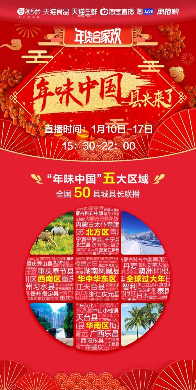 """淘宝年货节直播播出新""""高度"""":50位县长""""组团""""带货、重庆站上演""""海陆空"""