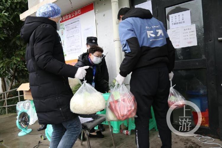 黎雅红带领志愿者给老人送蔬菜.jpg