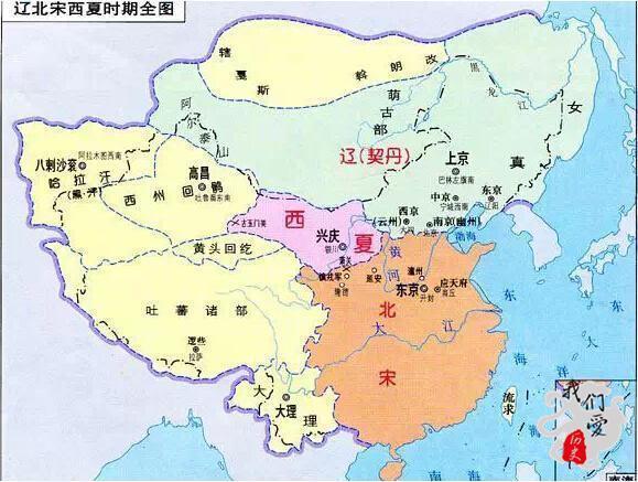 大辽正在权力巨大时称掌握着所有中邦北部和中