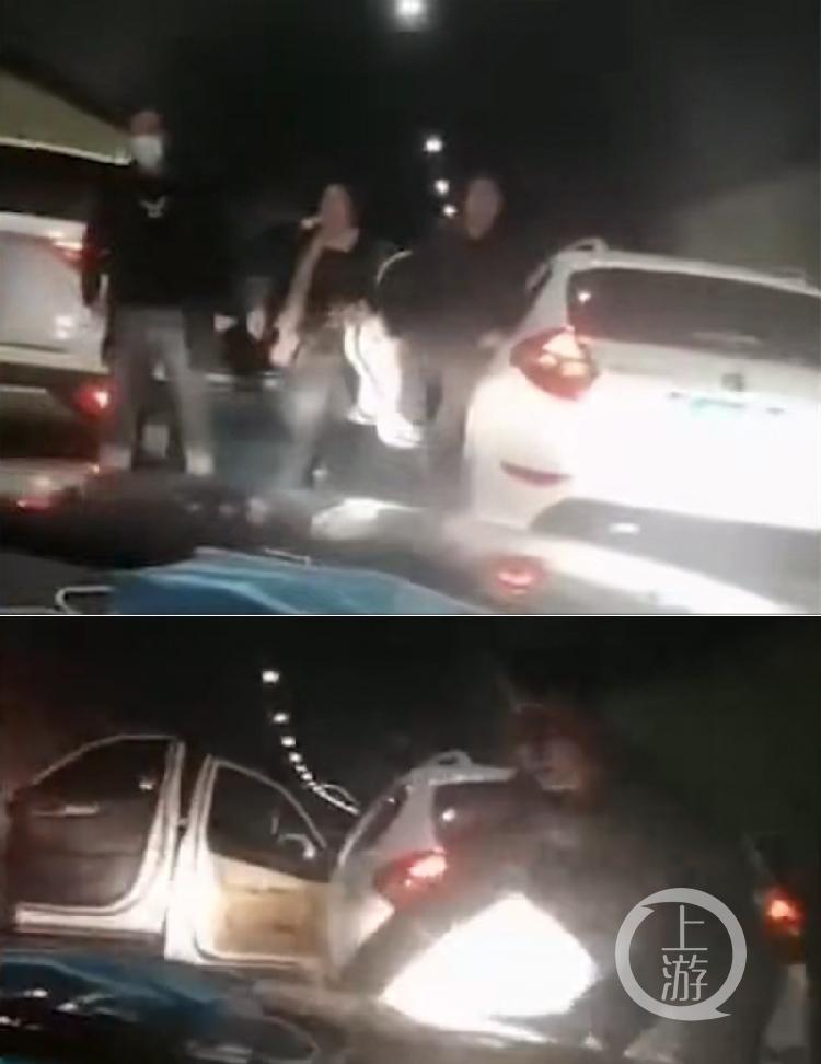疑妻与人私奔驾三车当街拦截一车,警方:认错车了